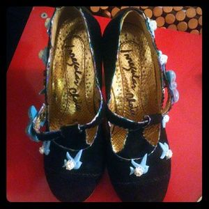 never worn irregular choice fresh cut grass heels